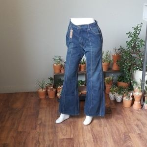 Red snap Bell bottom jeans